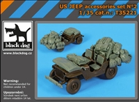 Black Dog T35221 - US Jeep Accessories Set No. 2