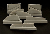 Brengun BRL48027 - MiG 3 Control Surfaces (for ICM & Alanger kits)