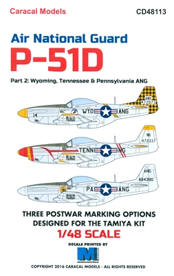 Caracal CD48113 - Air National Guard P-51D, Part 2 (Wyoming, Tennessee & Pennsylvania ANG)