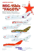 "Cutting Edge CED48016 - MiG-15bis ""FAGOTs"", Sheet 2"