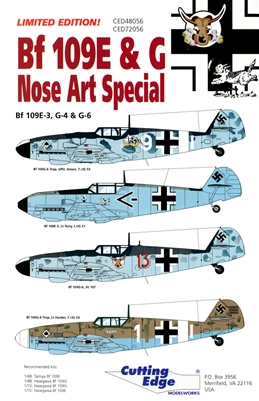 Cutting Edge CED48056 - Bf 109E & G Nose Art Special