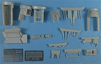 CMK 4058 - Bf-109E Engine Set (DB-601A/B) (fits Tamiya kits)