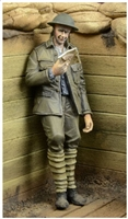 D-Day 35035 - WWI British Infantryman Reading a Letter