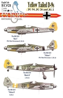 EagleCals EC#32-021 - Yellow Tailed D-9s (JG 54, JG 26 and JG 2)