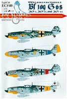 EagleCals EC#32-040 - Messerschmitt Bf 109 G-6s (JG 1, JG 11, JG 54)