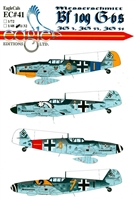 EagleCals EC#32-041 - Messerschmitt Bf 109 G-6s (JG 3, JG 53, JG 54)