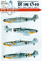 EagleCals EC#32-042 - Messerschmitt Bf 109 G-6s (JG 3, JG 5, JG 52, JG 77)