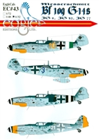 EagleCals EC#32-043 - Messerschmitt Bf 109 G-14s (JG 4, JG 52, JG 77)