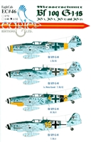 EagleCals EC#32-046 - Messerschmitt Bf 109 G-14s (JG 3, JG 5, JG 52, JG 53)
