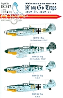 EagleCals EC#32-047 - Messerschmitt Bf 109 G-6 Trops (JG 27, JG 51)