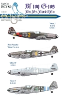 EagleCals EC#32-080 - Bf 109 G-10s (JG 51, JG 52, JG 300 & NJG 11)