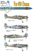 EagleCals EC#32-111 - Fw 190 Doras (Black 3...)