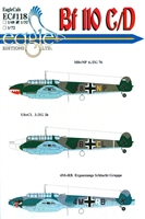 EagleCals EC#32-118 - Bf 110 C/D