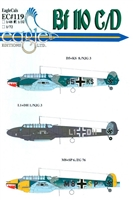 EagleCals EC#32-119 - Bf 110 C/D