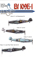 EagleCals EC#32-120 - Bf 109E-1 (Yellow 14...)