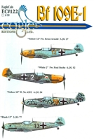 EagleCals EC#32-122 - Bf 109E-1 (Yellow 12...)