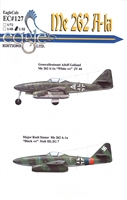EagleCals EC#32-127 - Me 262 A-1a (Adolf Galland...)