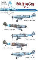 EagleCals EC#32-155 - Erla Bf 109 G-10s, JG 300