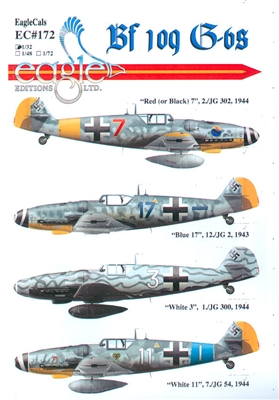 EagleCals EC#32-172 - Bf 109 G-6s