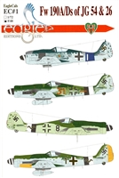 EagleCals EC#48-001 - Fw 190A/Ds of JG 54 & 26 - Part 1
