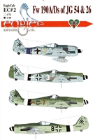 EagleCals EC#48-002 - Fw 190A/Ds of JG 54 & 26 - Part 2