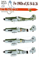 EagleCals EC#48-003 - Fw 190A/Ds of JG 54 & 26 - Part 3
