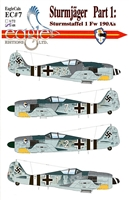 EagleCals EC#48-007 - Sturmjager Part 1:  Sturmstaffel 1 Fw 190A's