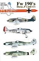 EagleCals EC#48-010 - Fw 190's, Doras, F's and A's