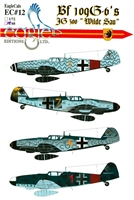 "EagleCals EC#48-012 - Bf 109 G-6's (JG 300 ""Wilde Sau"")"