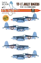 EagleCals EC#48-020 - VF-17 Jolly Rogers, F4U-1A Corsairs