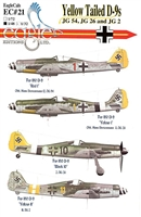 EagleCals EC#48-021 - Yellow Tailed D-9s (JG 54, JG 26 & JG 2)