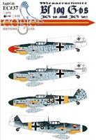 EagleCals EC#48-037 - Messerschmitt Bf 109 G-6s (JG 50 & JG 302)