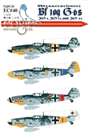 EagleCals EC#48-040 - Messerschmitt Bf 109 G-6 (JG 11, JG 54)