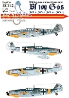 EagleCals EC#48-042 - Messerschmitt Bf 109 G-6s (JG 3, JG 5, JG 52, JG 77)