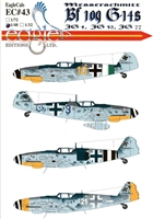 EagleCals EC#48-043 - Messerschmitt Bf 109 G-14s (JG 4, JG 52, JG 77)