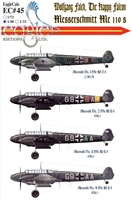 EagleCals EC#48-045 - Wolfgang Falck, The Happy Falcon (Messerschmitt Me 110s