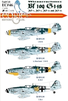 EagleCals EC#48-046 - Messerschmitt Bf 109 G-14s (JG 3, JG 5, JG 52 & JG 53)