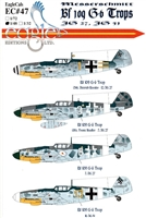 EagleCals EC#48-047 - Messerschmitt Bf 109 G-6 Trops (JG 27, JG 51)