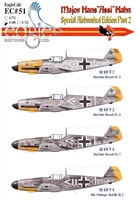 "EagleCals EC#48-051 - Major Hans ""Assi"" Hahn, Special Airbrushed Edition Part 2"