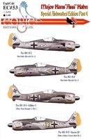 "EagleCals EC#48-053 - Major Hans ""Assi"" Hahn, Special Airbrushed Edition Part 4"