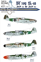 EagleCals EC#48-062 - Bf 109 K-4s (JG 27 & JG 52)