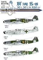 EagleCals EC#48-074 - Bf 109 K-4s (JG 3, JG 27 & NJG 11)