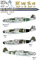 EagleCals EC#48-075 - Bf 109 K-4s (JG 27 & JG 53)
