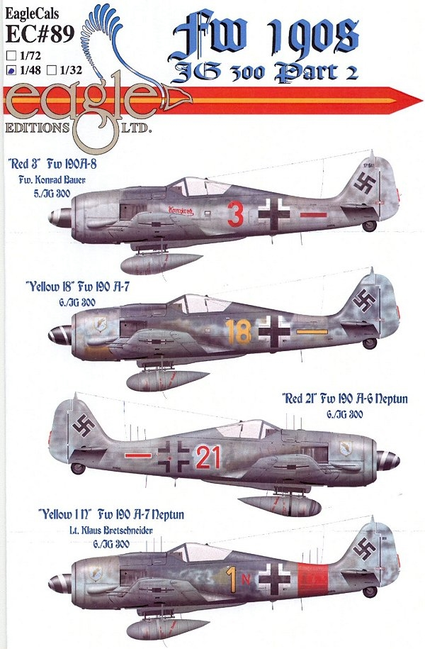 Print Scale 48-019 Decal for LA-5 Part 2 1:48