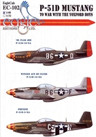EagleCals EC#48-102 - P-51D Mustang, To War with the Yoxford Boys (Ol Flak Joe...)