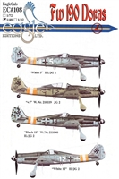 EagleCals EC#48-108 - Fw 190 Doras (White 5...)