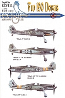 EagleCals EC#48-111 - Fw 190 Doras (Black 3...)