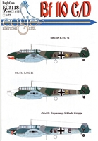 EagleCals EC#48-118 - Bf 110 C/D