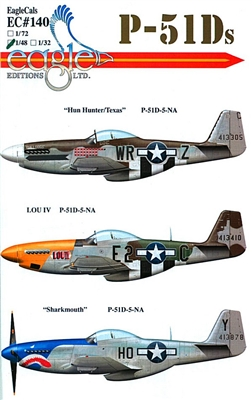 EagleCals EC#48-140 - P-51Ds (Hun Hunters/Texas...)