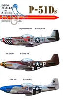 EagleCals EC#48-142 - P-51Ds (Big Beautiful Doll...)